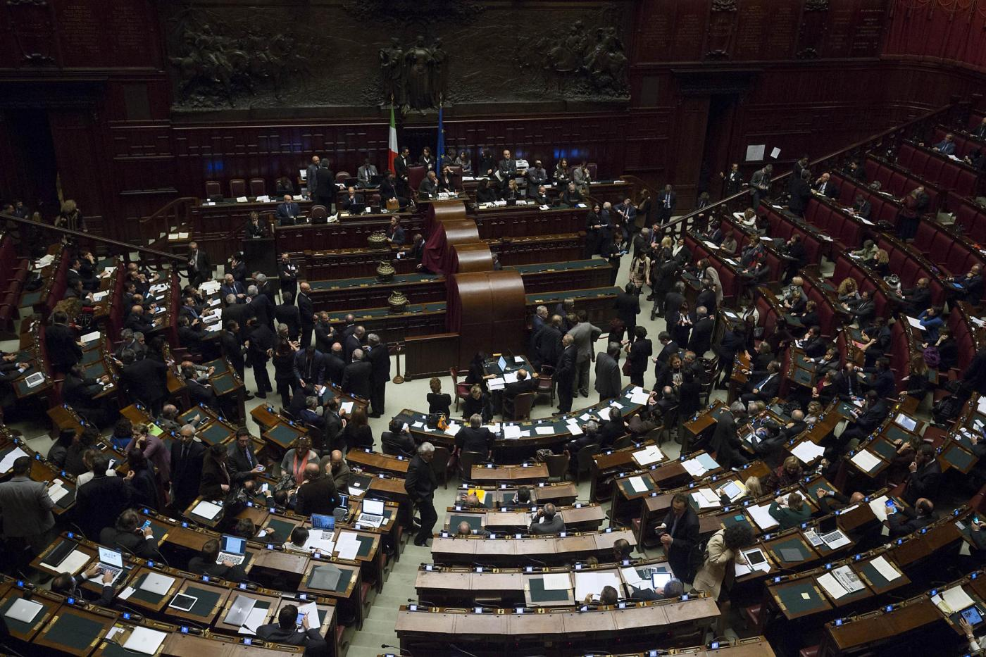 Parlamento riunito in seduta comune per l'elezione di tre giudici della Corte Costituzionale