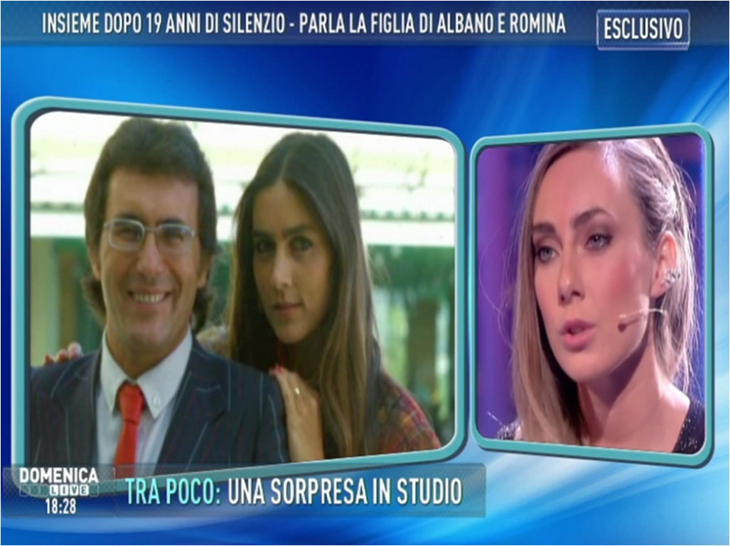 Albano e Romina, la figlia Cristel a Domenica Live: 'Stare tutti insieme, volevo solo questo'