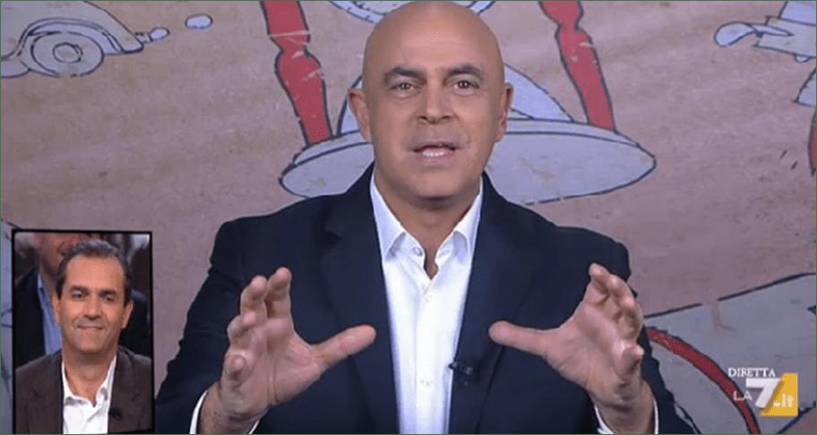 Maurizio Crozza a diMartedì, la copertina a La 7: Renzi robot e le dimissioni di Napolitano