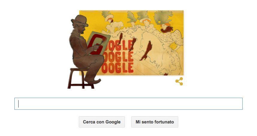 Henri de Toulouse-Lautrec nel Doodle di Google