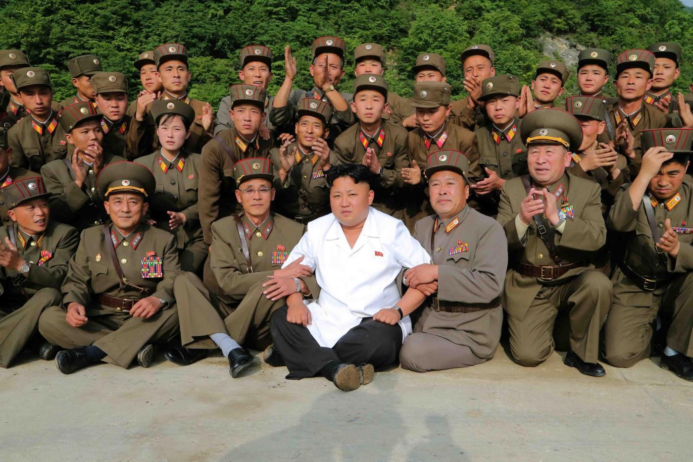 Kim Jong Un e il suo esercito