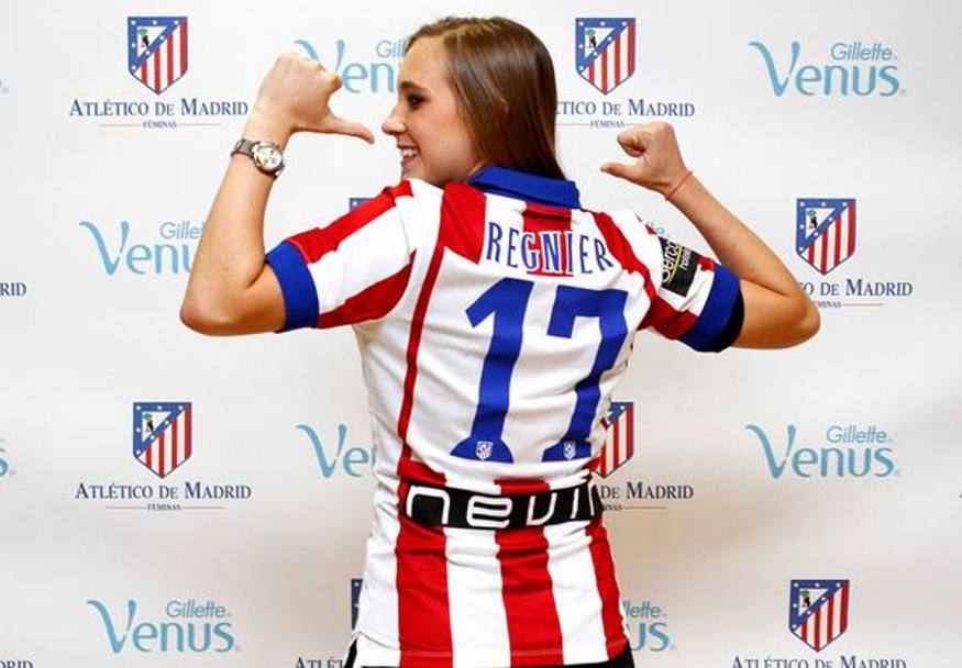 Nicole Regnier con maglia Atletico