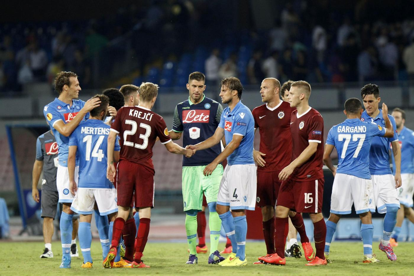 Europa League, Sparta Praga vs Napoli 0-0: azzurri ai sedicesimi