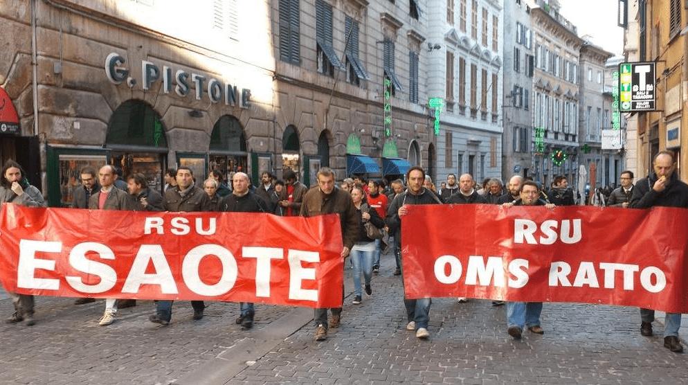 Corteo Esaote e Oms Ratto a Genova: i lavoratori chiedono un atto di coraggio alla politica
