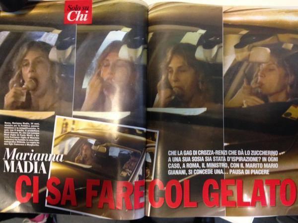 Marianna Madia su Chi, la foto che offende le donne e le istituzioni