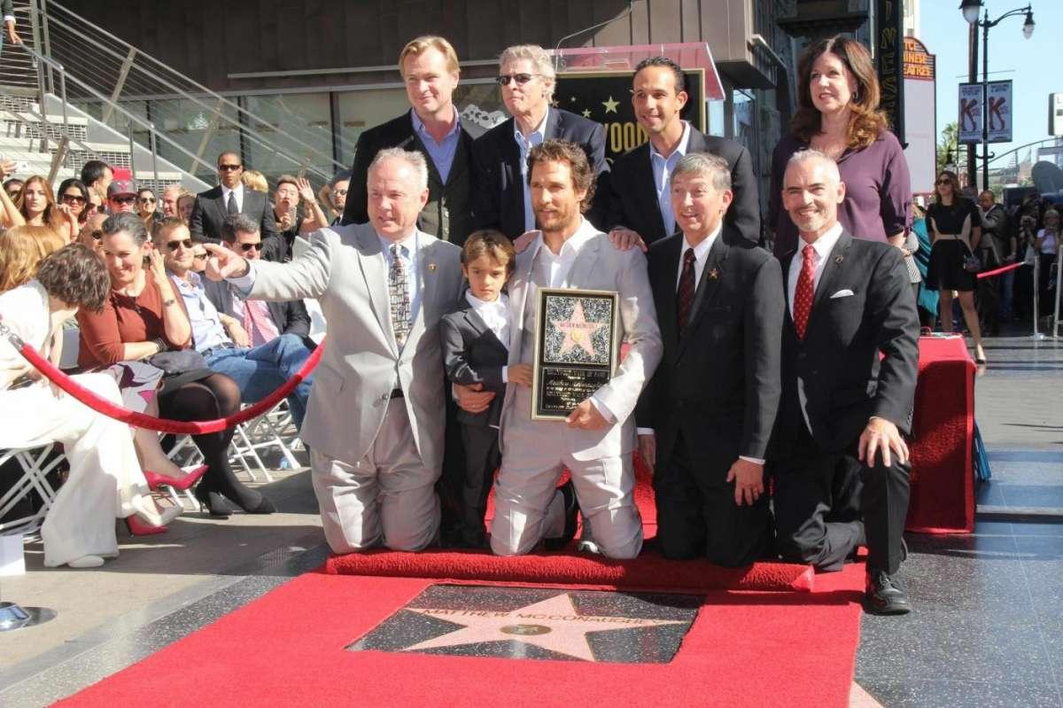Matthew McCounaghey sulla Walk of Fame di Hollywood