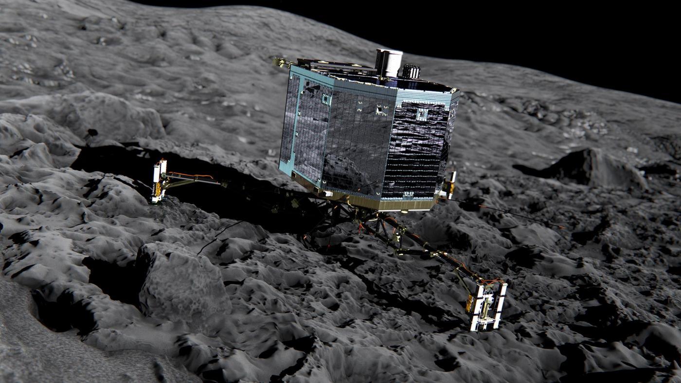 rosetta cometa simulazione