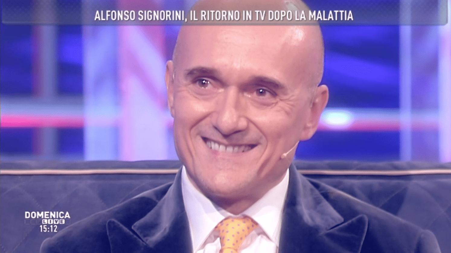Alfonso Signorini a Domenica Live: 'Ringrazio la mia malattia'