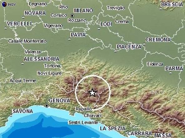 Terremoto oggi a Genova di magnitudo 3,7: nessun ferito