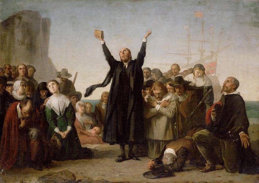the arrival of the pilgrim fathers antonio gisbert