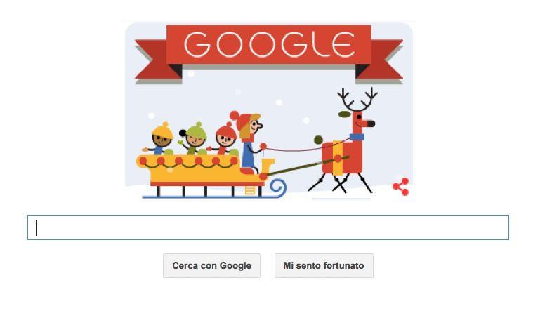 Il Doodle di Buone Feste da Google
