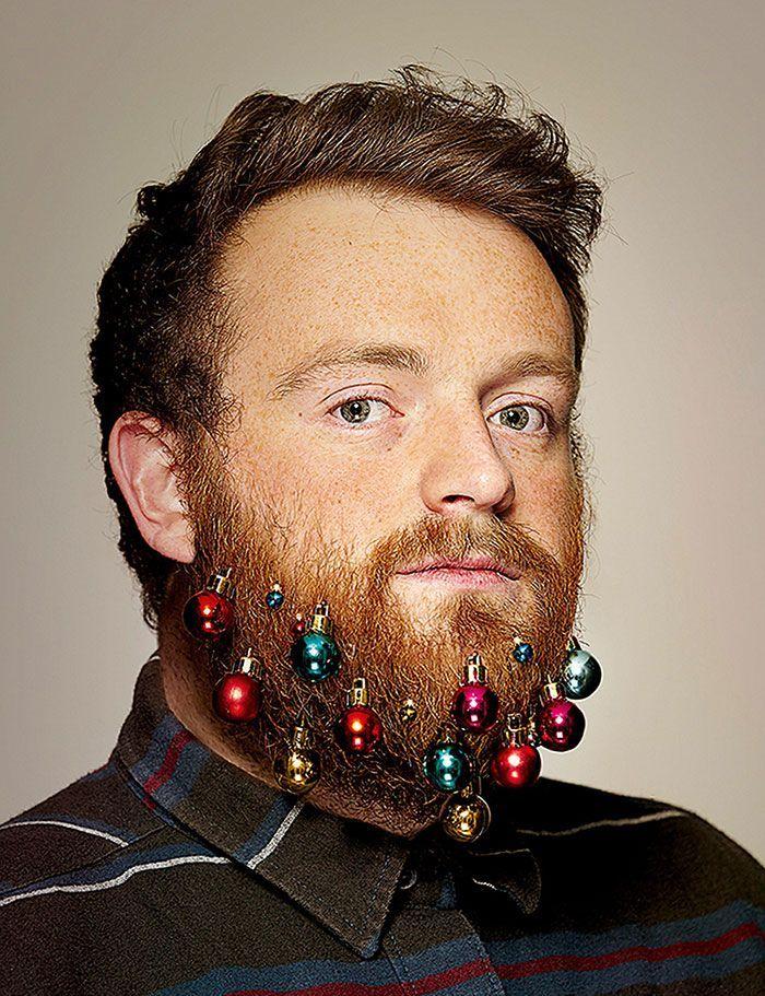 Decorazioni da barba per Natale