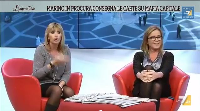 L'aria che tira, lite in diretta tra Alessandra Mussolini e Maria Teresa Meli
