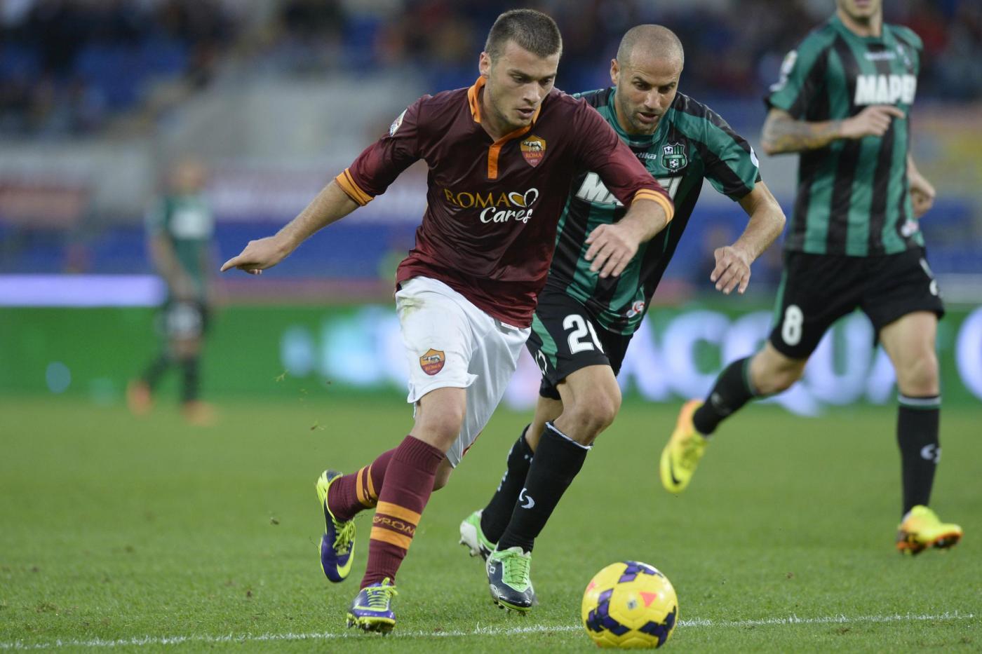 Roma vs Sassuolo 2-2: giallorossi pareggiano in 10 al 93esimo