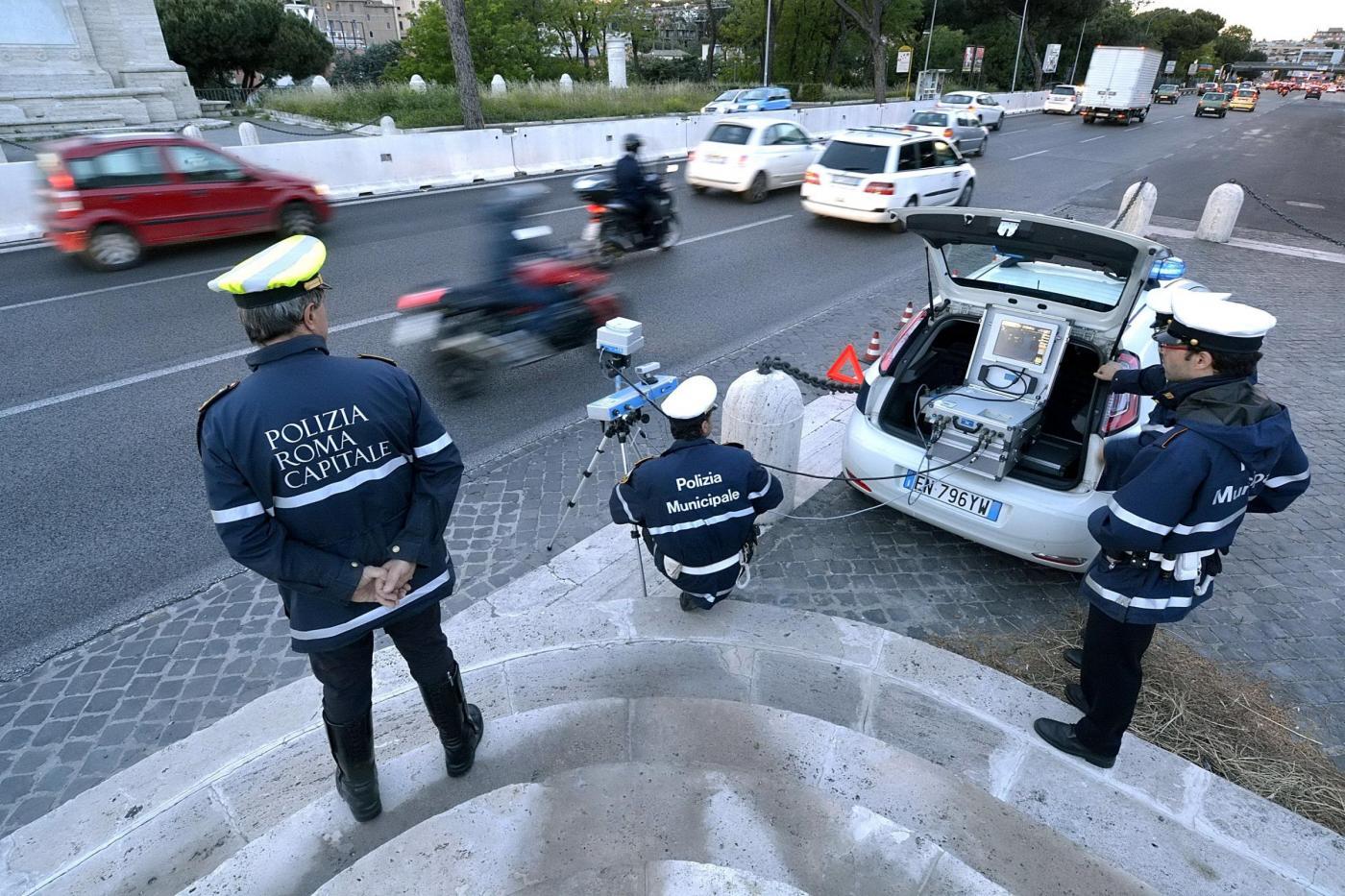 Roma, Polizia autovelox