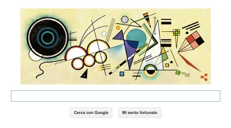 Google Doodle per il pittore russo Wassily Kandinsky