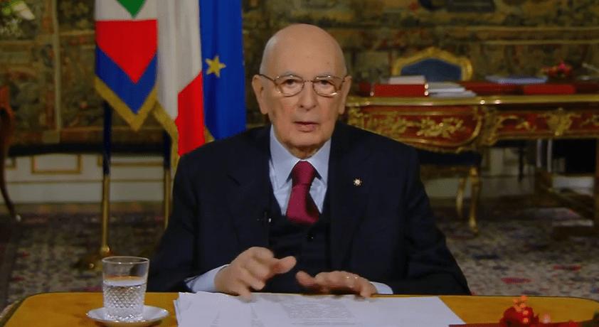 Discorso di fine anno del Presidente Napolitano: «Sto per lasciare»