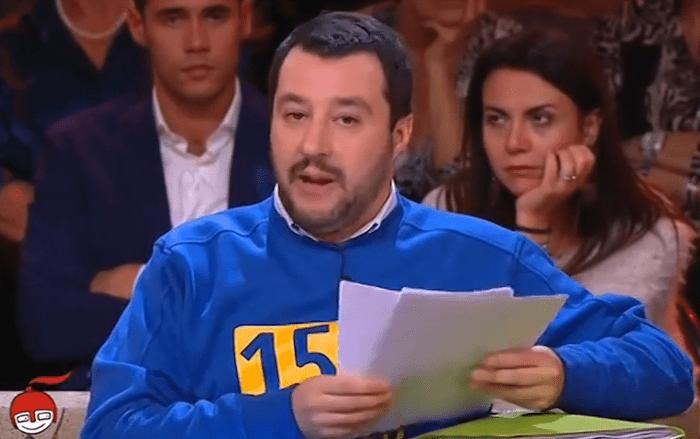 Matteo Salvini difende il made in Italy, ma indossa una maglia francese