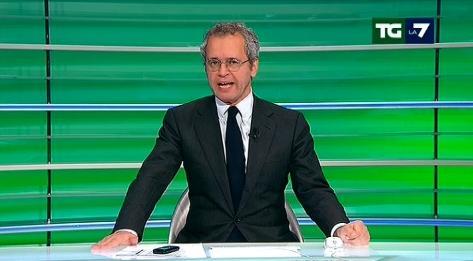 Enrico Mentana, gaffe al Tg La7 durante lo spoglio: 'Chi c*** è Morelli?'