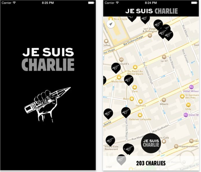 Apple e Google supportano Je suis Charlie