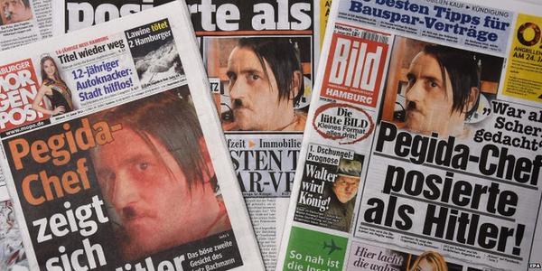 Leader anti-Islam tedesco in posa da Hitler: Lutz Bachmann costretto a dimettersi