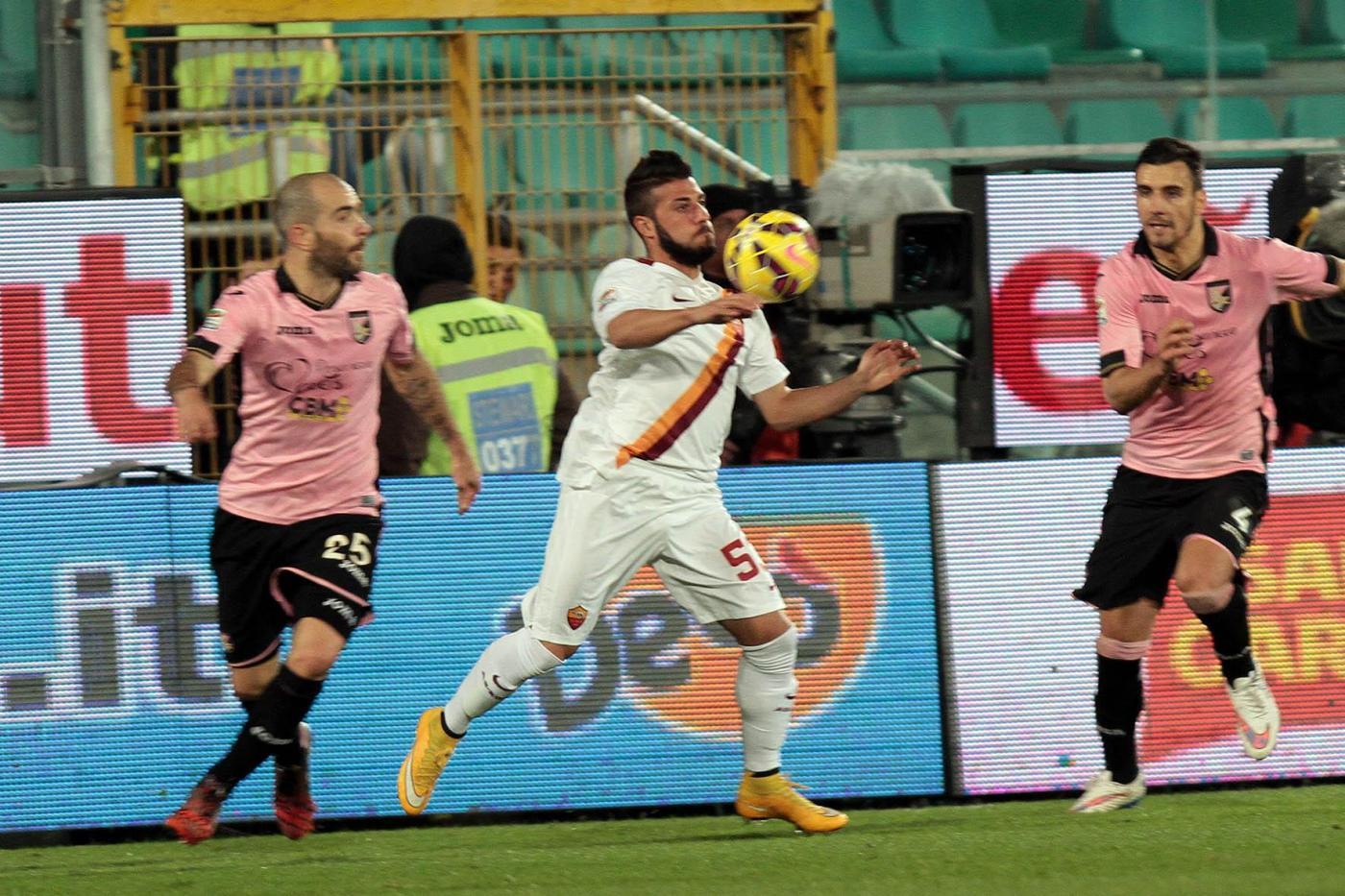 Palermo vs Roma 1-1 nell'anticipo di Serie A