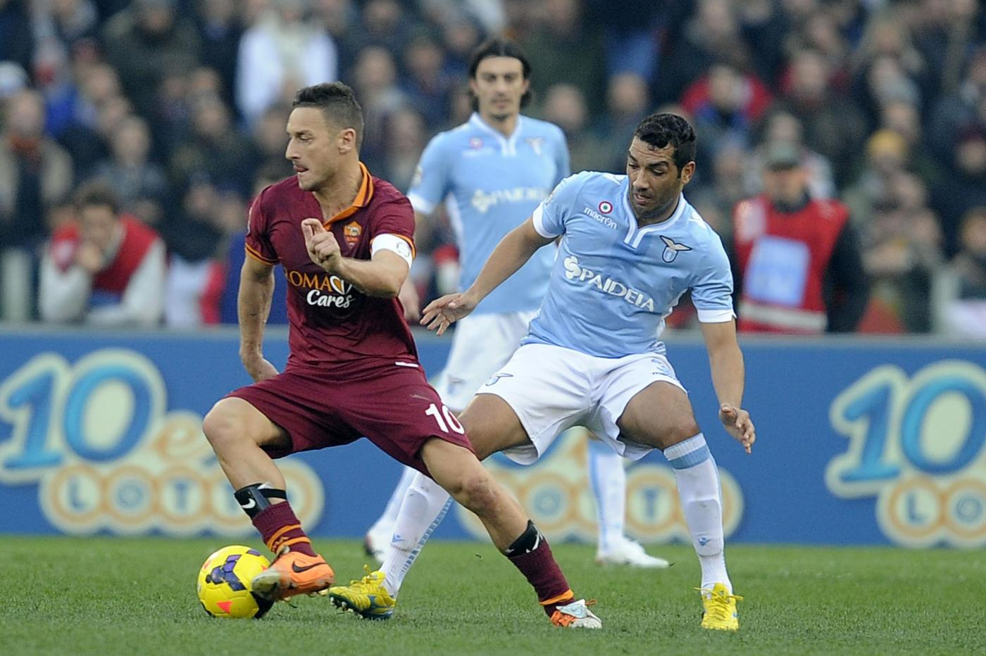 Roma vs Lazio 2-2 all'ultimo respiro al derby