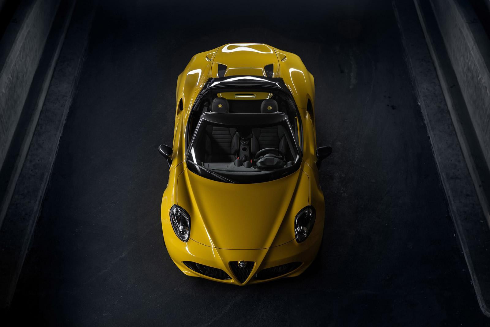 Alfa Romeo 4C Spider: motore e scheda tecnica