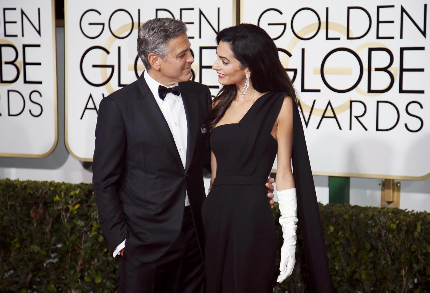 George Clooney ai Golden Globes 2015: dall'attore una dichiarazione d'amore per la moglie Amal Alamuddin