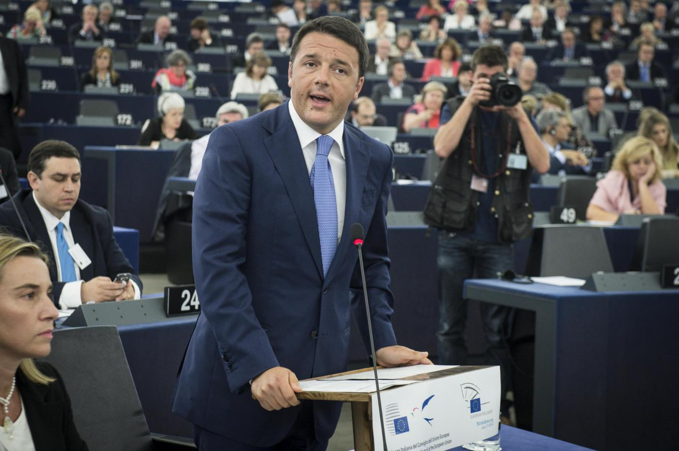 Semestre europeo dell'Italia, il discorso di Renzi: «L'Europa deve cambiare»