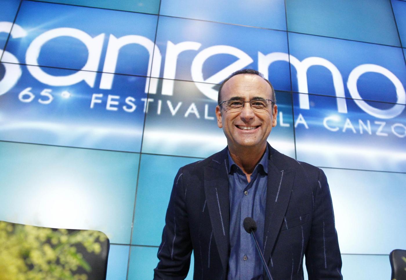 Sanremo 2015 conferenza stampa 12 febbraio
