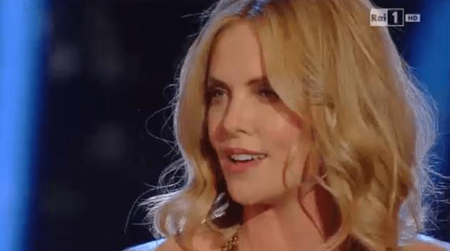 Charlize Theron a Sanremo 2015: l'attrice incanta il teatro Ariston