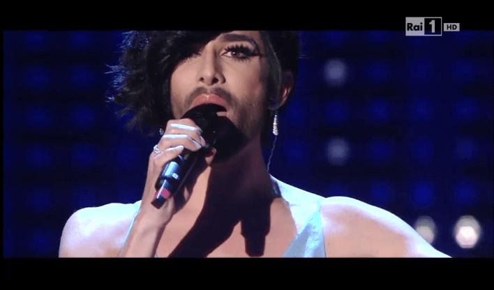 Conchita Wurst a Sanremo 2015: la drag queen si è esibita nel suo nuovo singolo