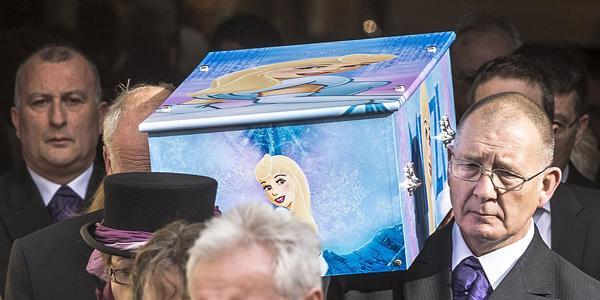 Funerale a tema Frozen per una bimba morta a 4 anni