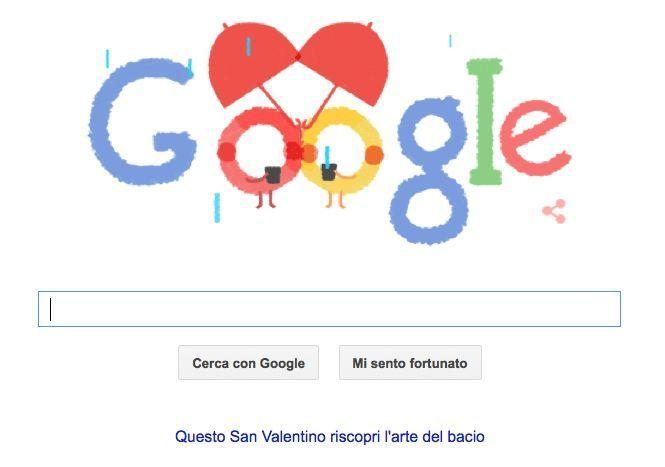 Google Doodle per San Valentino 2015