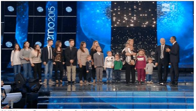 La famiglia più numerosa d'Italia a Sanremo 2015: scoppia la polemica?
