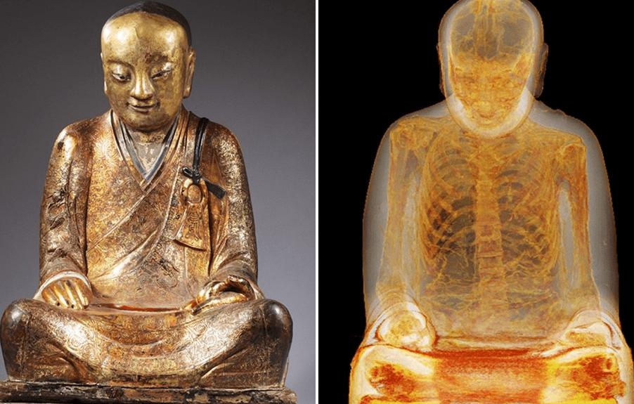 Nella statua del Buddha si nasconde la mummia di un monaco