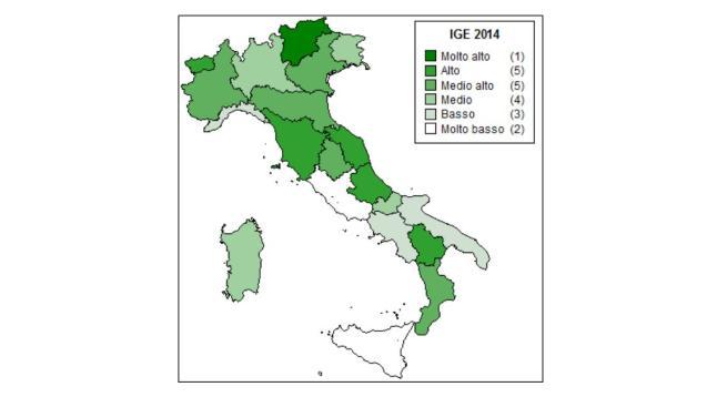 mappa indice green economy