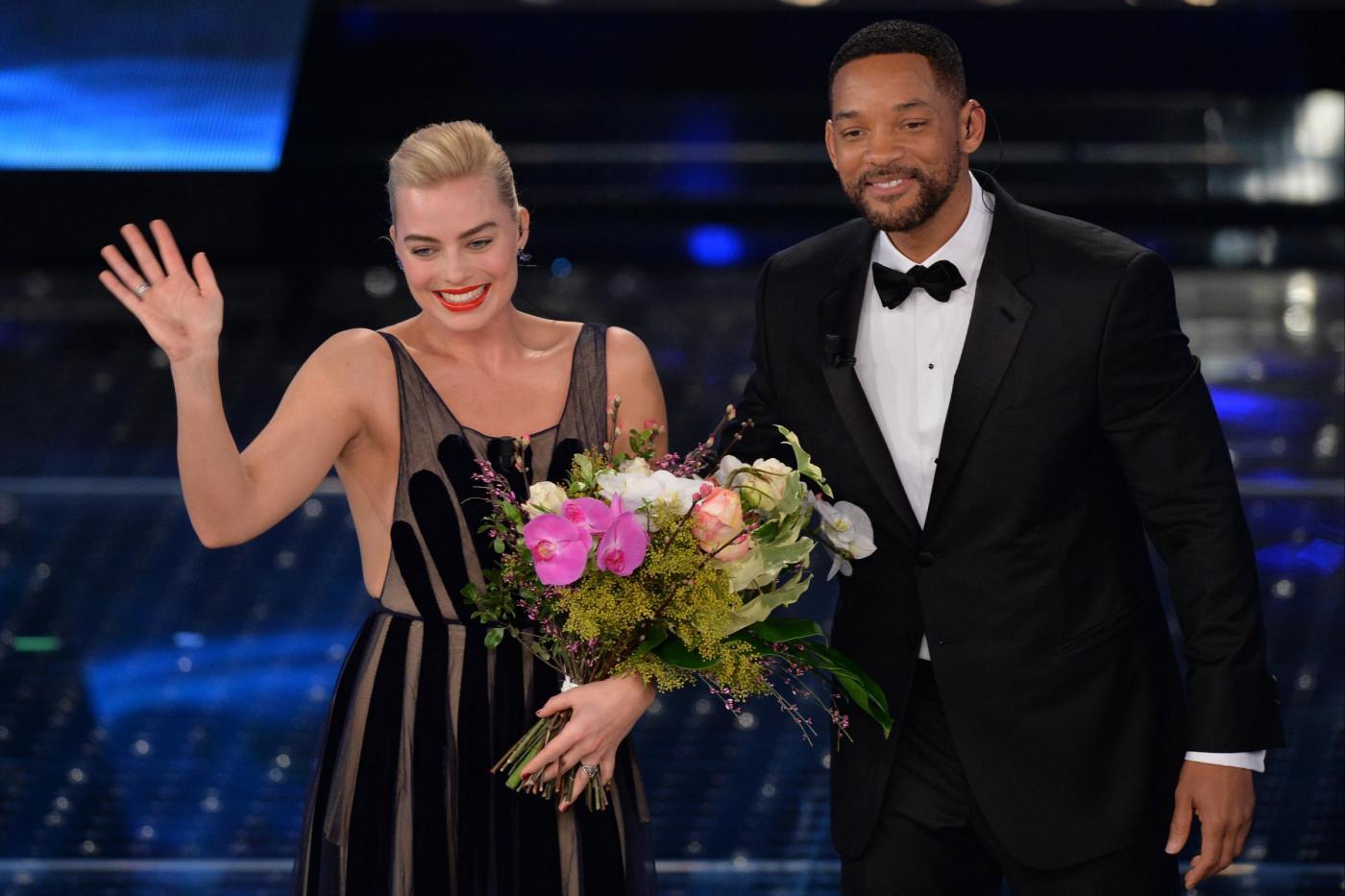 Will Smith e Margot Robbie a Sanremo 2015