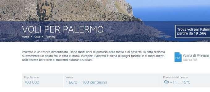 'Palermo, mafia e povertà': bufera su Ryanair, cancellate le offese sul sito