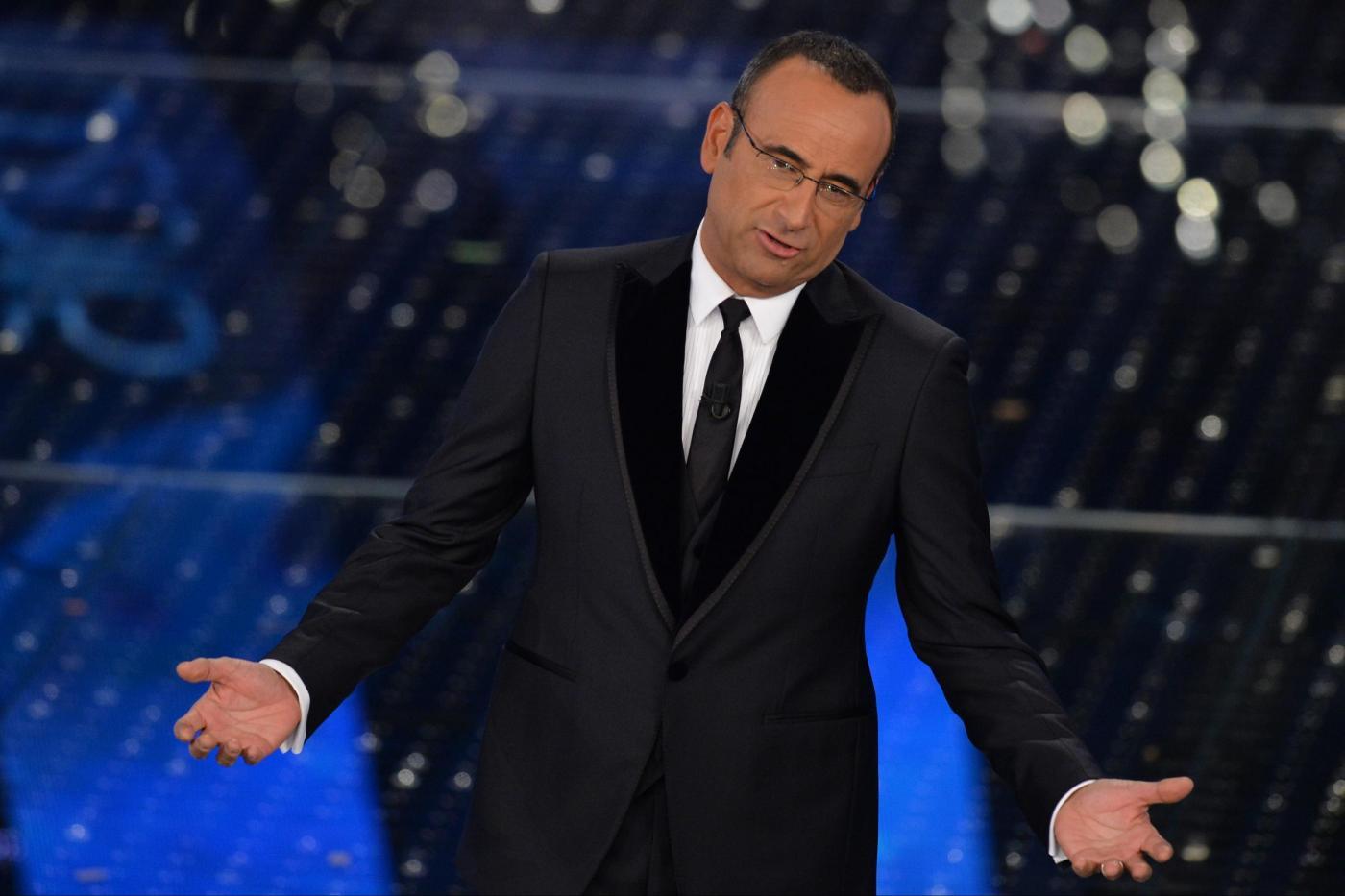 Sanremo 2015, conferenza stampa 15 febbraio: Carlo Conti vede improbabile un suo bis