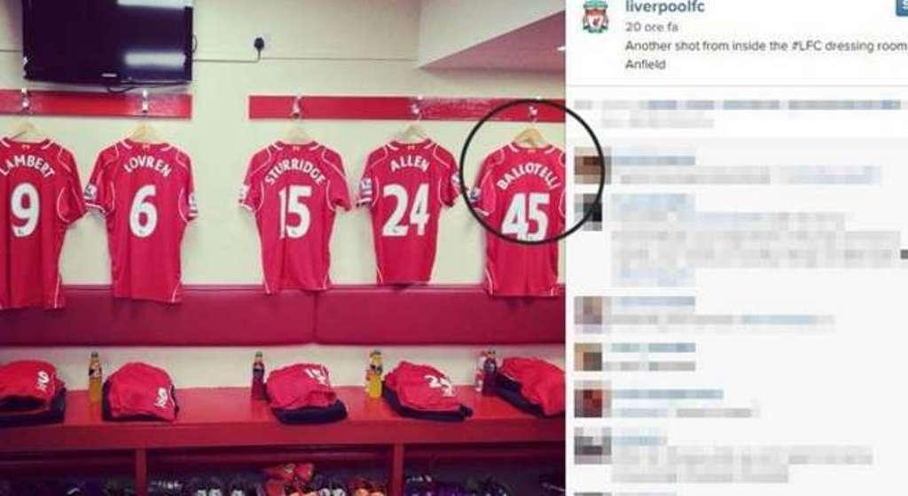 Balotelli diventa 'Ballottelli', gaffe del Liverpool su Instagram