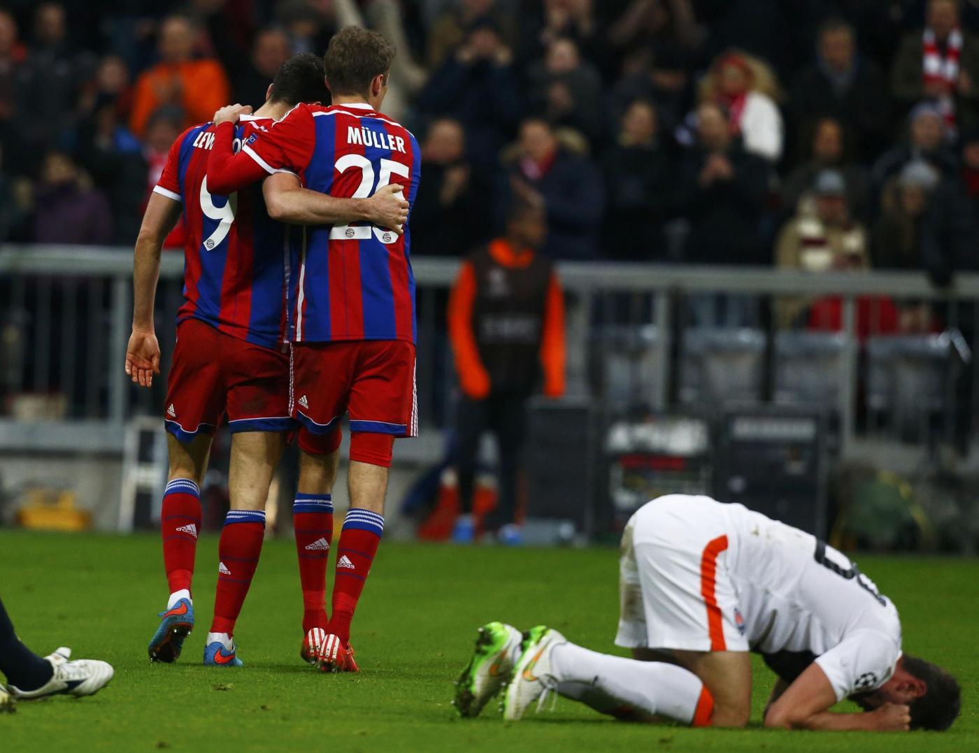 Bayern-Shakhtar 7-0: tedeschi travolgenti in Champions