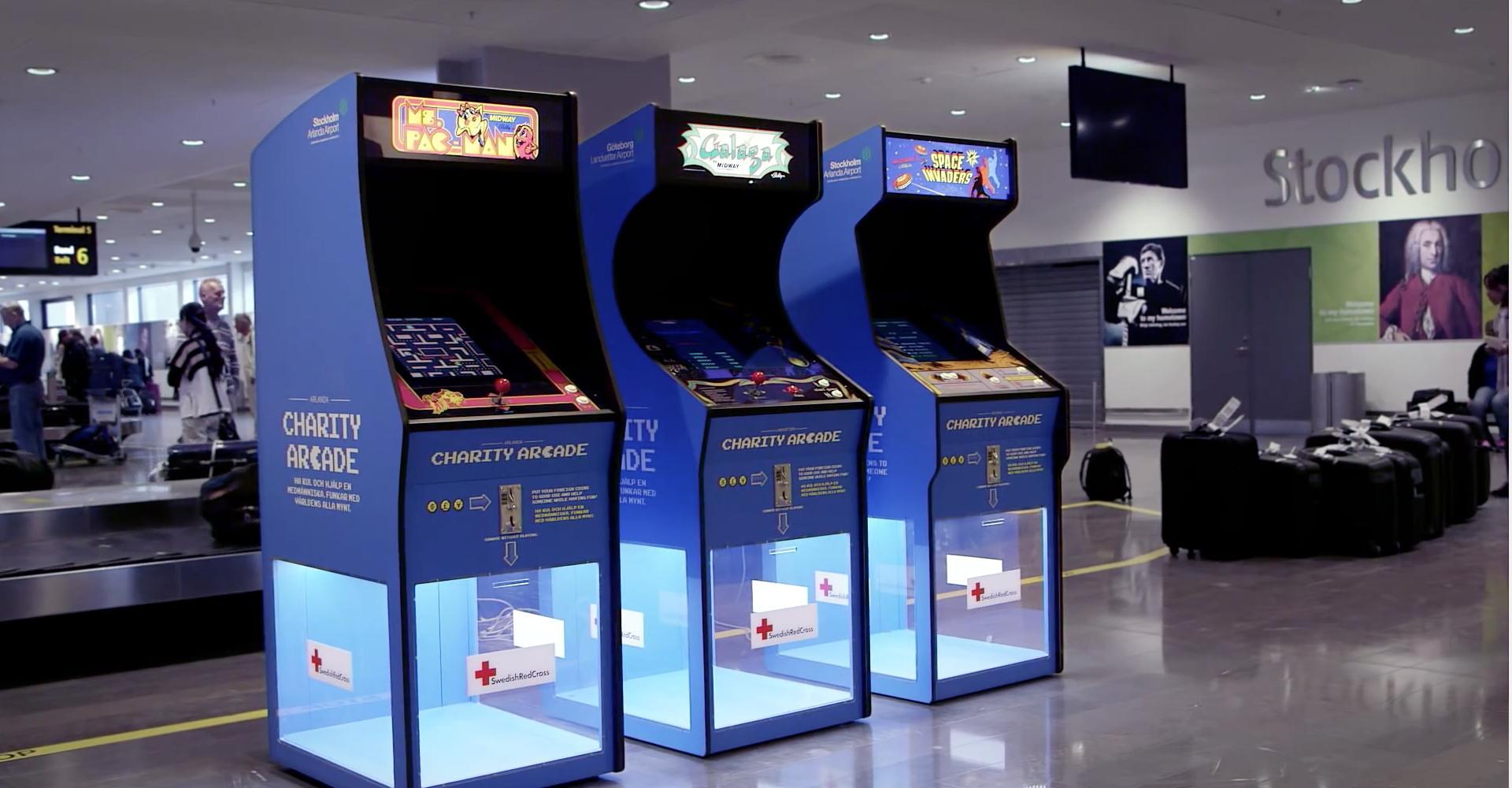 Videogiochi per la raccolta fondi negli aeroporti svedesi