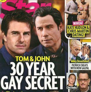 John Travolta e Tom Cruise gay e coppia da trent'anni? La bufala di un settimanale di gossip americano
