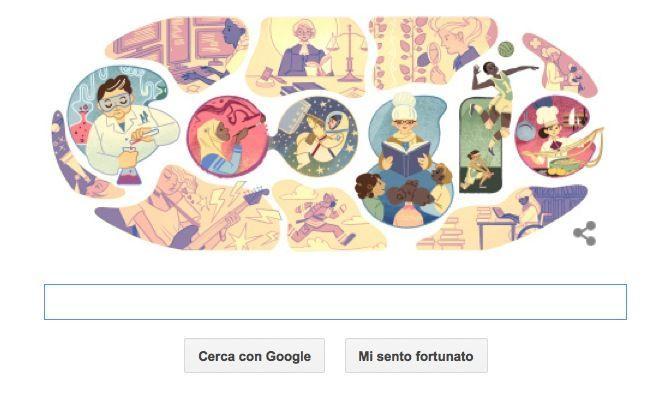 Giornata Internazionale della Donna 2015 nel Doodle di Google