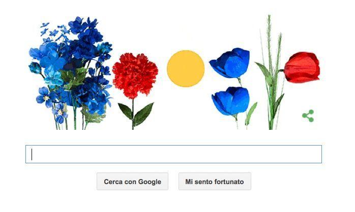 Primo giorno di primavera (e eclissi) nel Doodle di Google