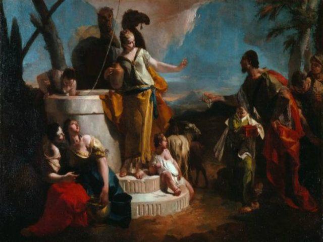 Incontro di Rebecca ed Eleazaro al pozzo Giambattista Tiepolo