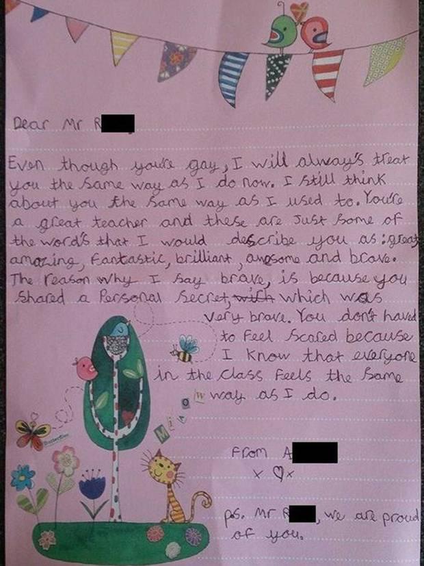 Bambina scrive al maestro gay dopo il coming out: 'Sei fantastico lo stesso'