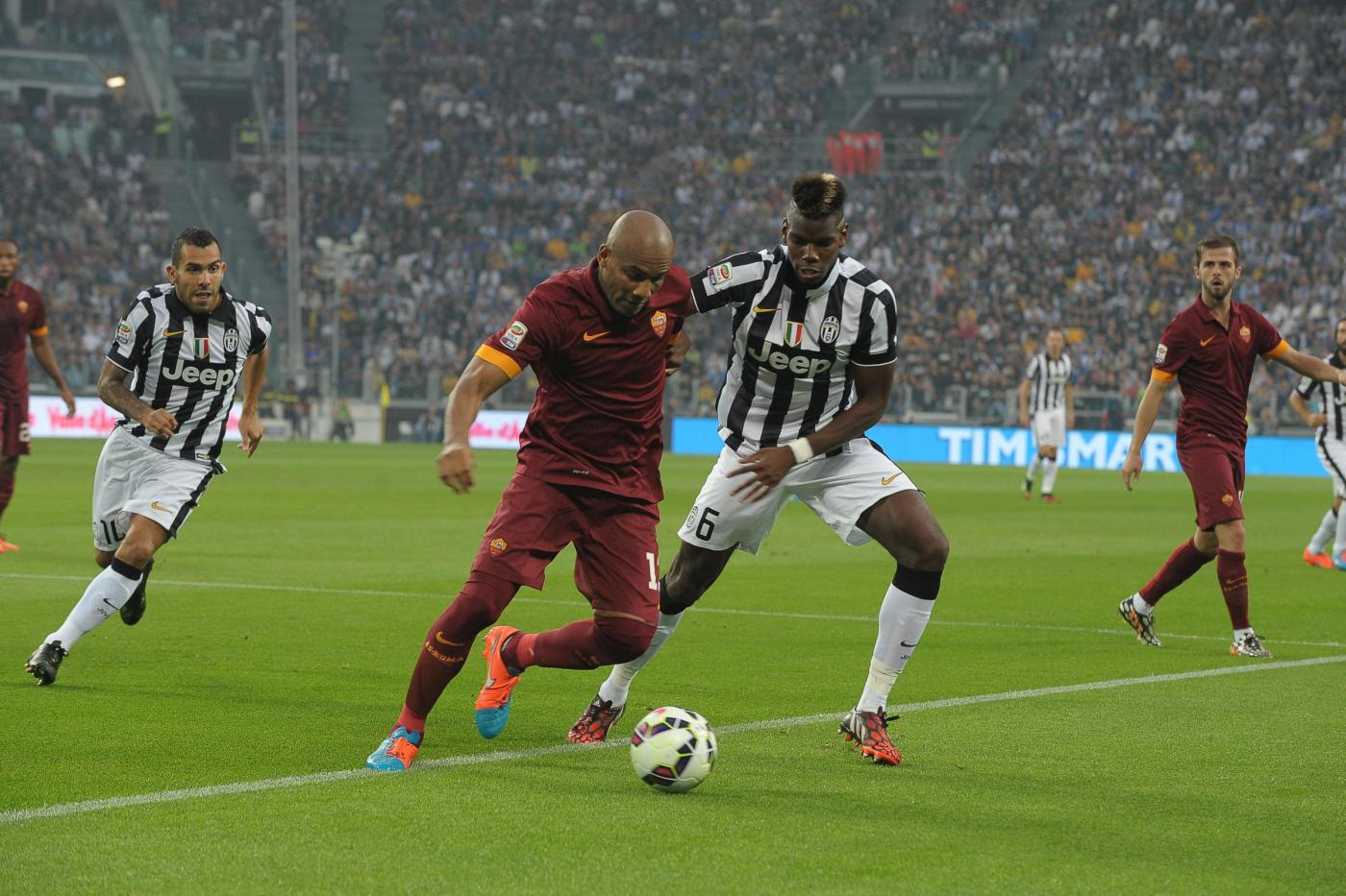 Roma vs Juventus 1-1: giallorossi sfiorano il colpaccio in 10
